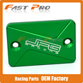 CNC Alloy Front Brake Reservoir Fluid Cover Cap Fit For D-Tracker 125 10-16 ATV KFX450R 08-09 KFX700 04-09