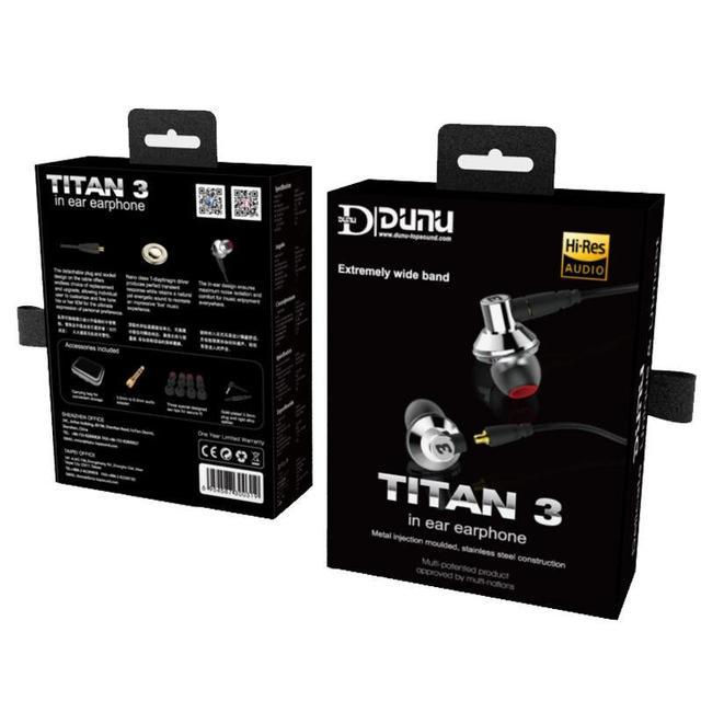 DUNU TITAN 3 HiFi Inner-ear Earphone Titanium Diaphragm Dynamic High Fidelity Earphones with MMCX connector TITAN3 TITAN-3 6