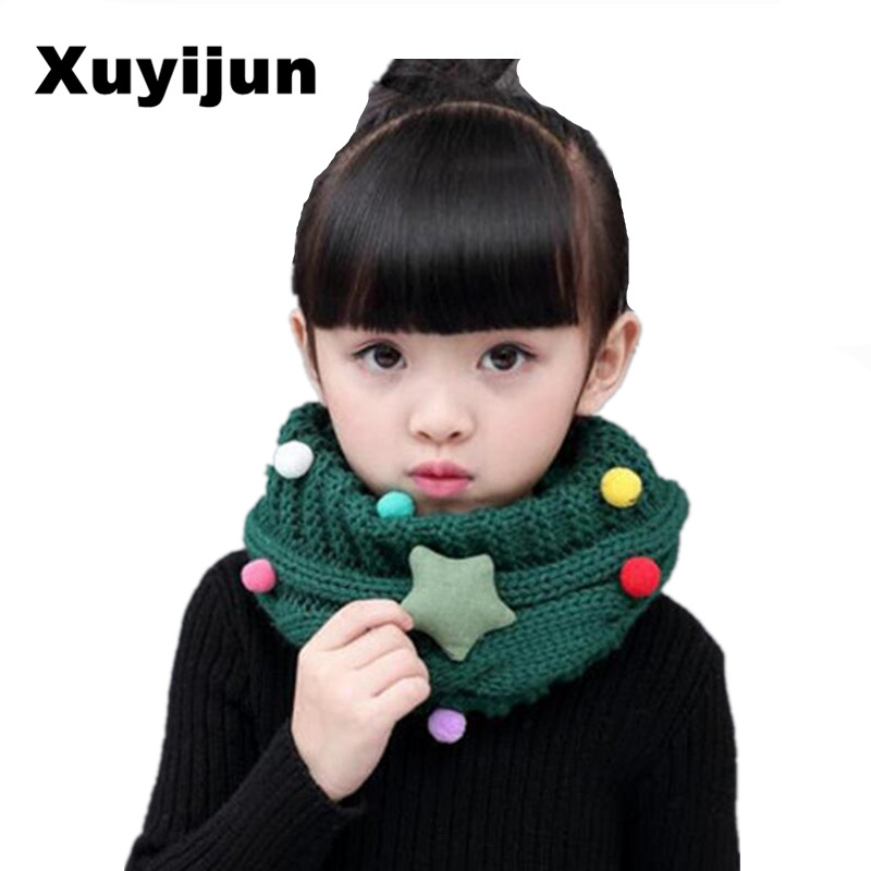 XUYIJUN skullies winter scarf Children's scarf thickened wool collar Scarfs for boys Shoes for girls Neck care products scarf skullies