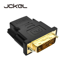 JCKEL HDMI Female to DVI D 24+1 Pin Male Adapter Converter HDMI2DVI Cable Switch for PC PS