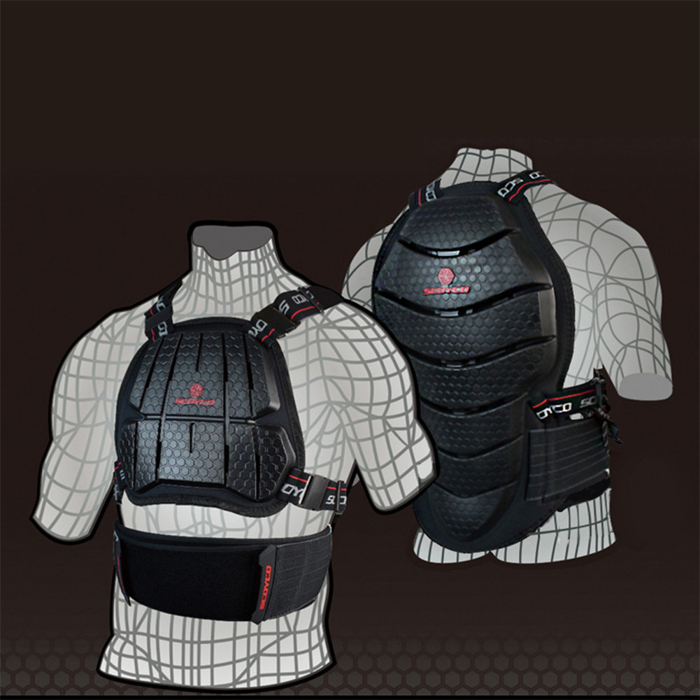SCOYCO Motorcycle Motocross Chest Back Protector Armour Vest Racing Protective Body Guard MX Jacket Armor ATV Guards Race Moto scoyco motorbike motorcycle motocross racing body armor riding protective gear absorbent perspiration breathable shirt stretch