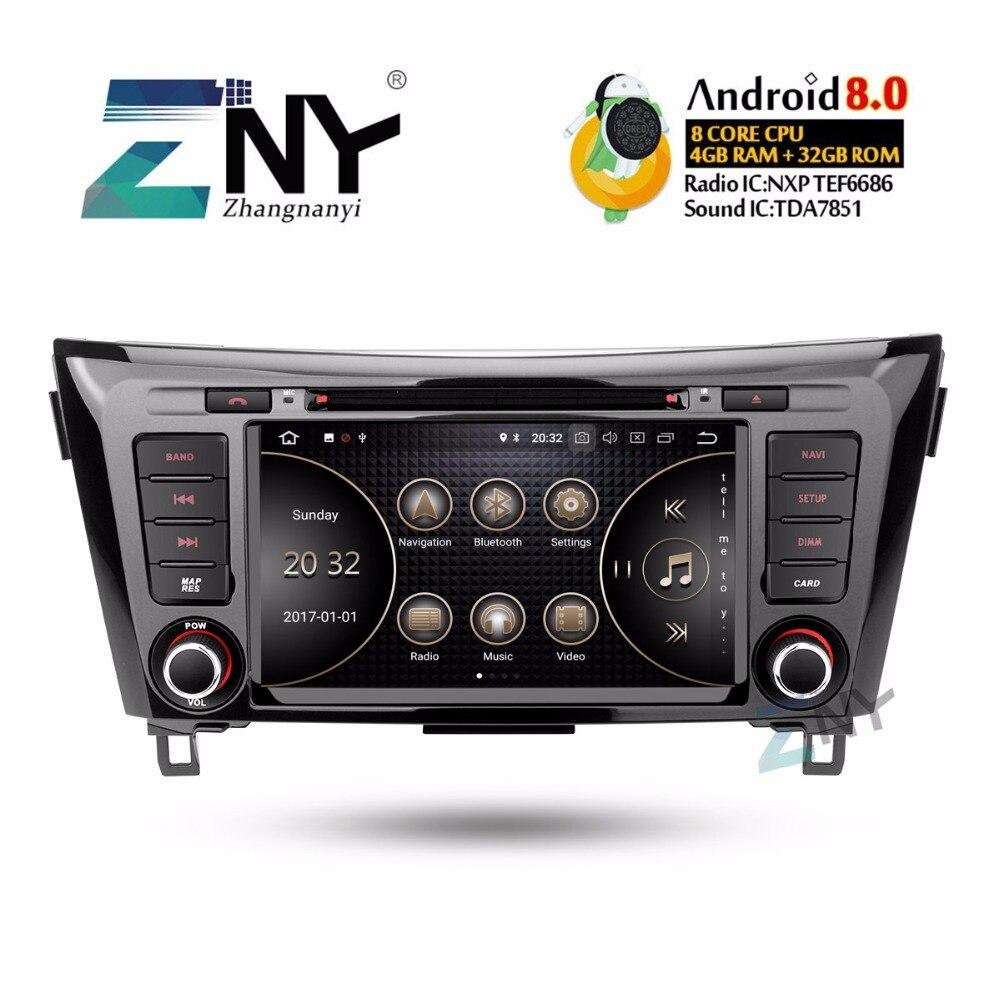 8 IPS Android 8 0 Car DVD 2 Din Autoradio For Nissan Qashqai X Trail 2014