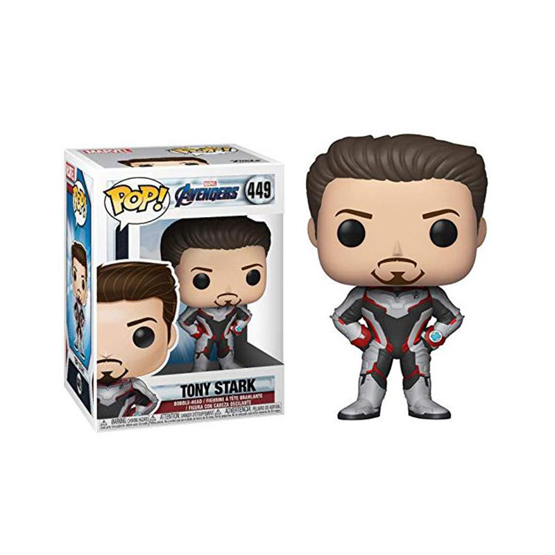 FUNKO POP Marvel Comics Avengers EndgameTONY STARK 449# Iron Man Action Figure Collection Model Toys for Children Christmas Gift