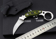 Claw knife D2 steel field edge a green ghost claw knife camping equipment outdoor survival tool