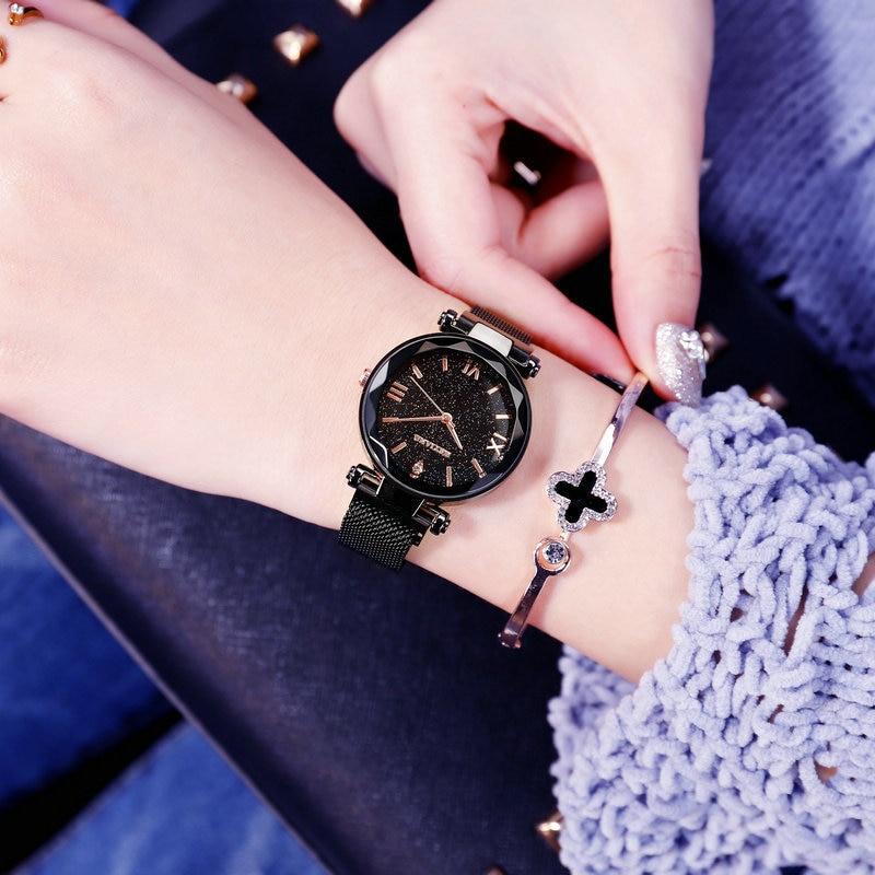 Luxury Brand Women Watches Ladies Starry Sky Magnet Buckle Clock Diamond Watch Relogio Feminino Wrist Watches for Women 4