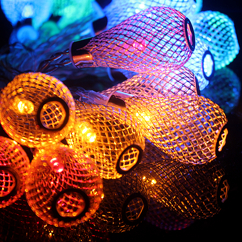 Novelty Outdoor lighting 2M LED Ball string string Christmas Lights - Pencahayaan perayaan - Foto 5