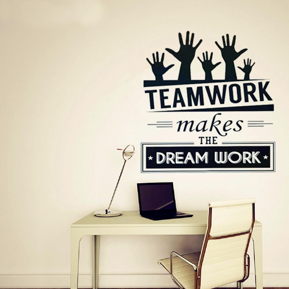 Furniture advertising slogans - Free Shipping Fashion Office Vinyl Decal Art Office Mural Decor Office Sticker Teamwork
