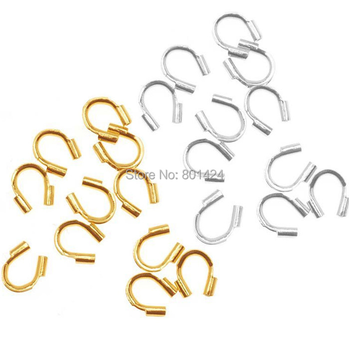 100pcs 58-423 wire protectors Wire Guard Guardian Protectors loops U shape accessories for jewelry