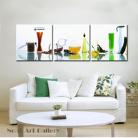 Beautiful Glass Bottles For Juice High Definition Giclee Canvas Print Painting Kitchen Room Wall Hang Artworks