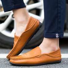 New Men moccasin breathable 2016 men s loafers designer leather shoe male PU leather fashion boat