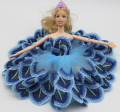 1 Pieces Tutu Ballerina Skirt For Barbie Doll short Mini wedding dress Gift Baby Toy