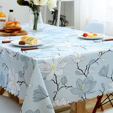Pastoral Plaid Rectangular Waterproof Tablecloth Fabric Pvc Tea Table Cloth Waterproof Oilproof For Table Cover Plastic For Home