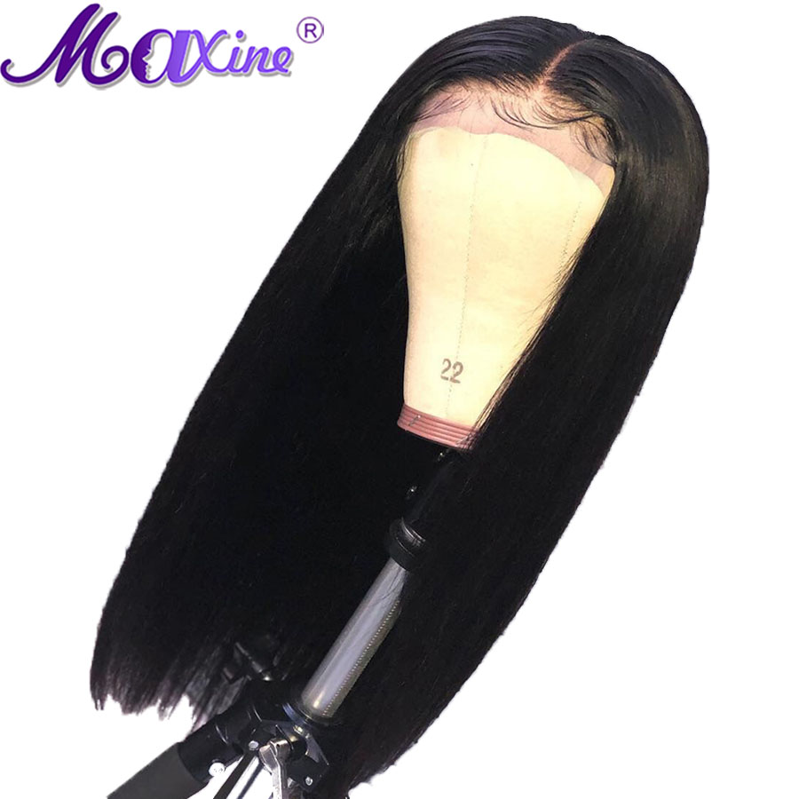 4x4 Closure Wig Brazilian Straight Lace Closure Wig Pre Plucked With Baby Hair Remy Women Wigs