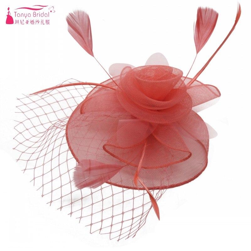 Elegante Bloem Hoeden bridal vrouwen elegant hoed Banket Hoed Veer Lady haar-accessoires 9 Kleuren DQG222