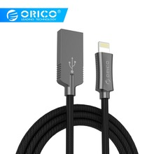 ORICO LTU Lightning USB Cable for iPhone Cable 3ft 100cm 2.4 A Fast Charging Cable for iPhone 6 7 Power Line Plus
