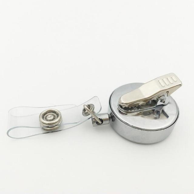 5 pièces argent cheval 30mm parfum médaillon métal rétractable Badge bobine clé ID carte Clip anneau lanière avec tampons gratuits