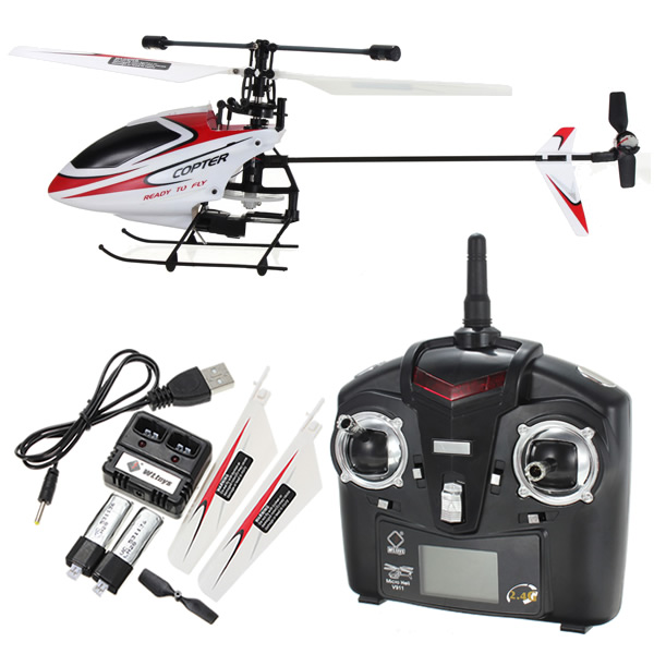 Upgraded Version V911 2.4GHz 4CH Single Blade Propeller Radio Remote Control RC Helicopter with Gyro Mode2