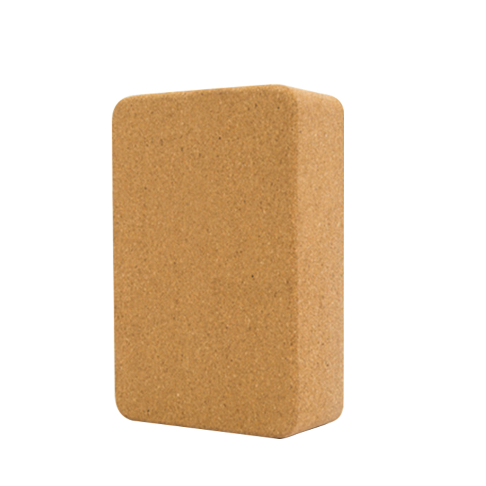 1PC Natural Cork Yoga Block High Density Thicken Yoga Fitness Blocks Eco-friendly Yoga Wooden Brick