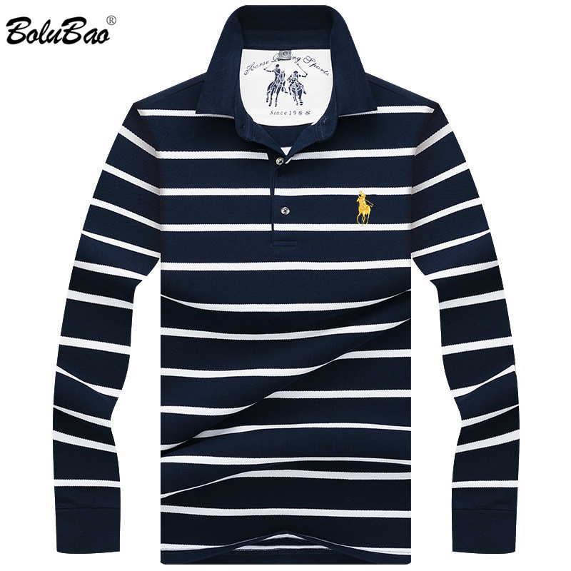 BOLUBAO Brand   Polo   Shirt Men 2019 Spring Autumn Male High Quality Cotton Striped   Polo   Shirts Men   Polos   Shirts