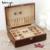 Rusia de Olmo Viejo Púrpura Yu Auténtica Madera Pura Doble Caja de Caja de Joyería de Jade Pulsera de Recibir Un Cassette del bloqueo