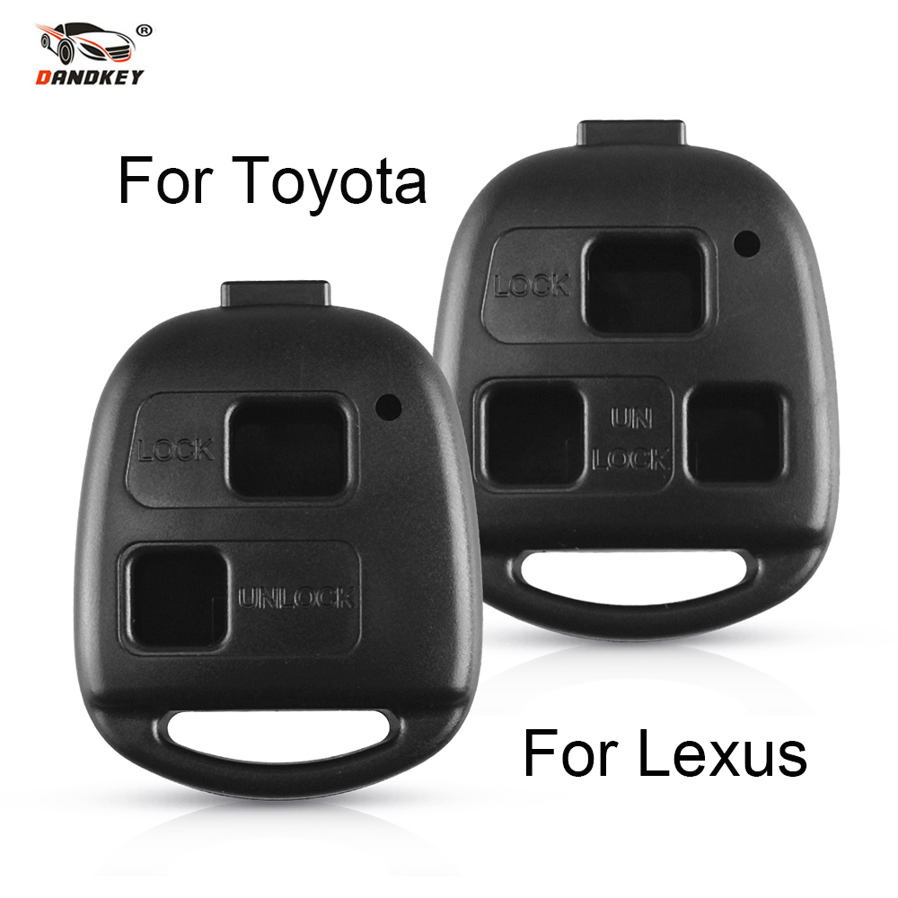 Dandkey 2 3 B Remote Key Shell For <font><b>Toyota</b></font> Land Cruiser YARIS CAMRY RAV4 <font><b>Corolla</b></font> PRADO For Lexus RX300 ES300 LS400 GX460 Dropship image