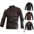 Men's leather jacket fashion warm Men's locomotive garment washed PU leather jacket coat in Europe and America Wholesale prices