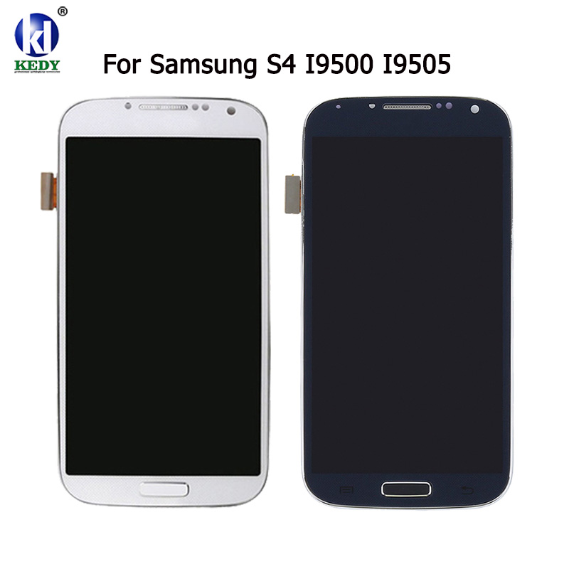 100% testé Nouveau Pour Samsung Galaxy S4 i9500 i9505 i9515 E300S i337 LCD Affichage à L'écran Tactile Digitizer Assemblée Complet Cadre