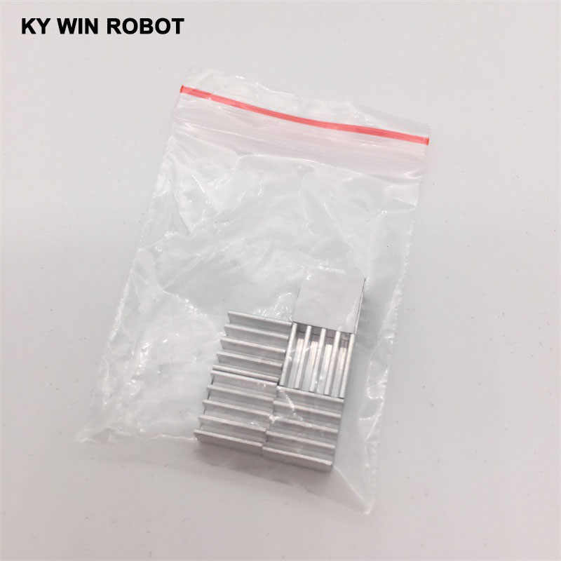 Mini disipador de calor adhesivo de aluminio, 5 uds., disipador de calor A4988, Enfriador de 9x9x5mm para impresora 3D, controlador de Motor paso a paso, VGA RAM, LED IC