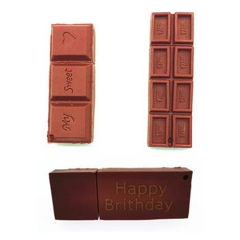 (over 10 PCS) Free LOGO customized  Chocolate USB flash drive pendrive 16GB 64GB 32GB Flash Memory Pen Drive Stick memory stick