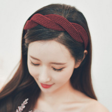 Fabric Cross Knot Headbands For Women Korea Colorful Hair Accessories  Bows Flower Crown Fahion Hairbands Head Wrap Band