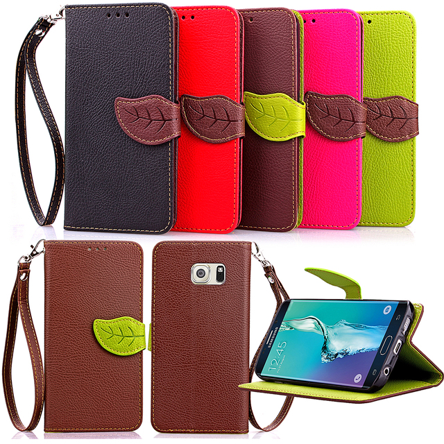 Leaf Case for Samsung Galaxy S6 6 Edge S6edge Plus Case Phone Leather Cover for Samsung G928 G928f G928c G928t SM-G928 SM-G928i