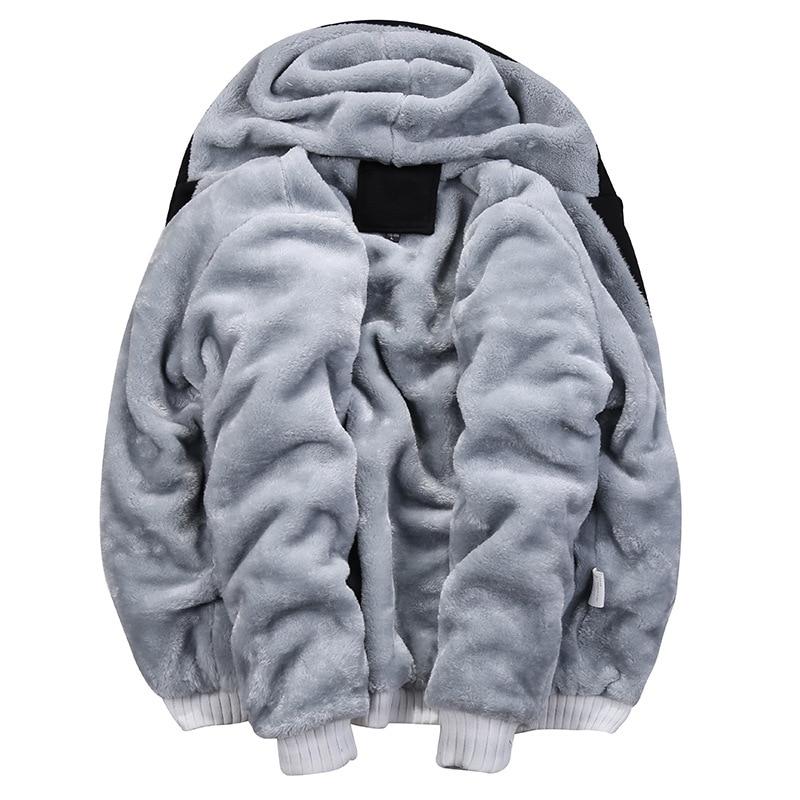 USA SIZE Men 39 s Hoodies Winter Thicken Fleece Warm Zipper Jackets Men Coats Hooded Spliced Casual Outwear Hooded Clothes Tops in Hoodies amp Sweatshirts from Men 39 s Clothing