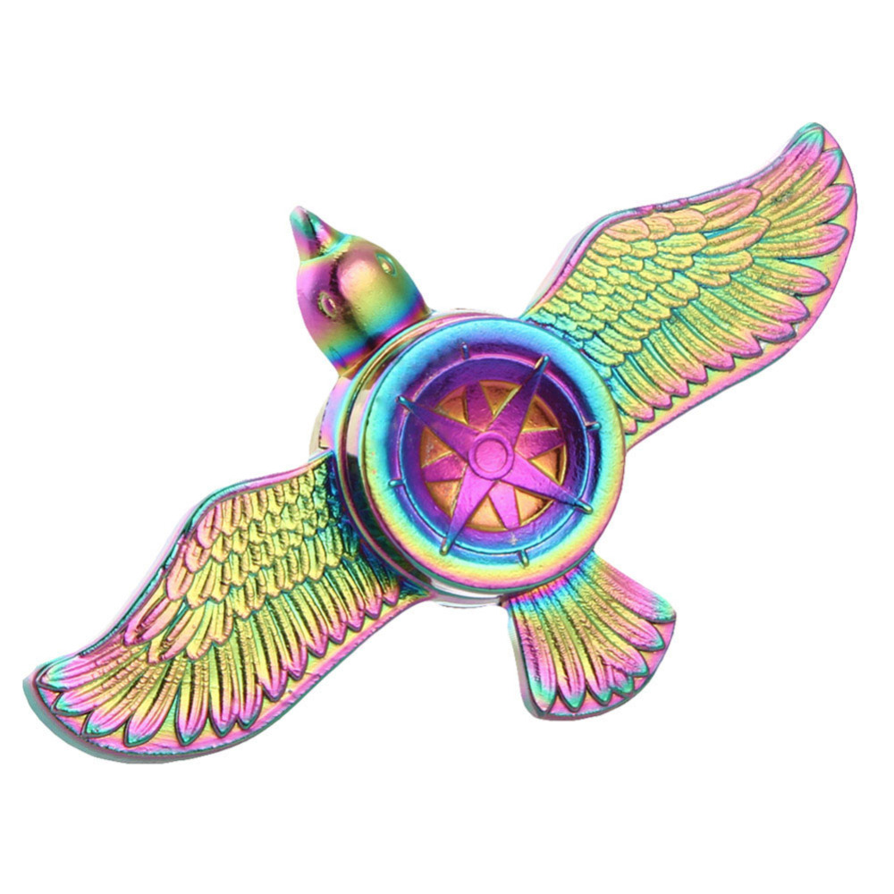 Fly Eagle Bird Rainbow Colorful Zinc Fidget Spinner Hand Spinner For Better Focus Reduce Autism ADHD Stress Toys With Gift Box