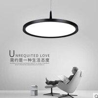 Modern restaurant lamp chandelier simple creative fashion designer single head round black and white den led dining room lamp