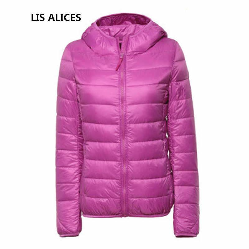 여성 남성 겨울 가을 얇은 후드 코트 여성 플러스 사이즈 3xl 라이트 자켓 소녀 슬림 캔디 컬러 파카 jaqueta feminina