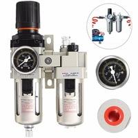 Aluminum Alloy Mayitr Air Compressor Oil Lubricator Water Separator Trap Filter Regulator Gauge High Quality