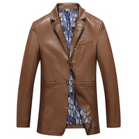 Imported Natural Soft Leather Jackets Mens Streetwear European and American Style Plus Size 8XL Mens Suit Leather Jackets A082