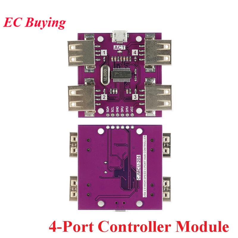 CJMCU-204 USB 2.0 HUB 4-Port Controller Module High Speed Low Power Consumption DC 5V 500mA image