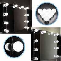DGHGF Stile Hollywood, LED Specchio cosmetico Lights Kit con Dimmerabile Lampadine, apparecchio di illuminazione di Striscia per Vanità di Trucco Set Da Tavola