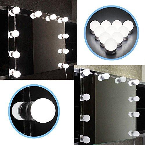 سوبر LED 12 فولت مرآة لوضع مساحيق التجميل ضوء لمبة هوليوود الغرور أضواء ستبليس عكس الضوء الجدار مصباح 6 10 14 لمبات عدة لطاولة خلع الملابس