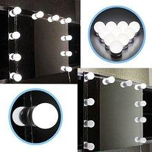 סופר LED 12V איפור מראה אור הנורה הוליווד יהירות אורות Stepless Dimmable קיר מנורת 6 10 14 נורות ערכת עבור הלבשה שולחן