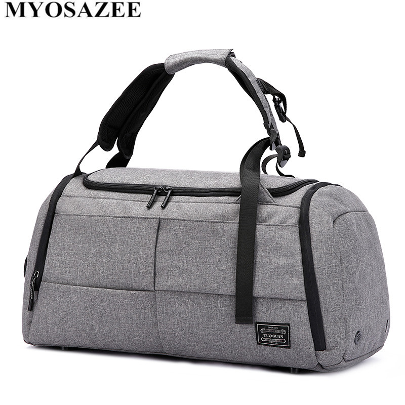 MYOSAZEE Brand High Capacity Travel Bag Men Leisure Business Multifunction Rusksack Male Fashion Backpack Casual Handbag