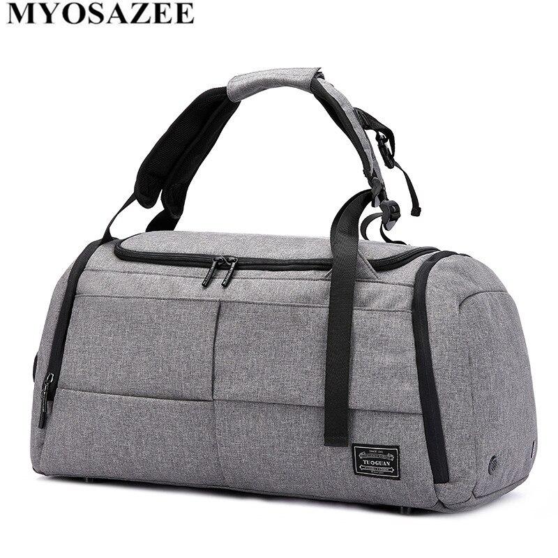 MYOSAZEE Marke Hohe Kapazität Reisetasche Männer Freizeit Business Multifunktions Rusksack Männlichen Mode Rucksack Beiläufige Handtasche Frauen