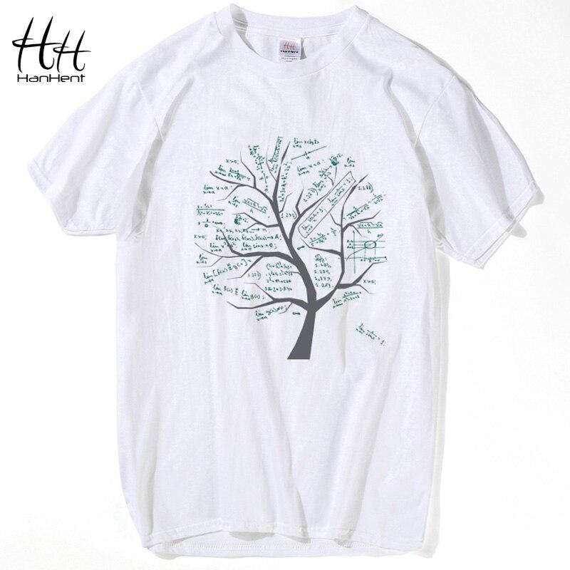 HanHent Mathematical Math Formula Tree Printed   T     Shirt   Cotton round neck Tshirt Summer Casual Tops Swag Nerd   Shirt   Men   T  -  Shirt