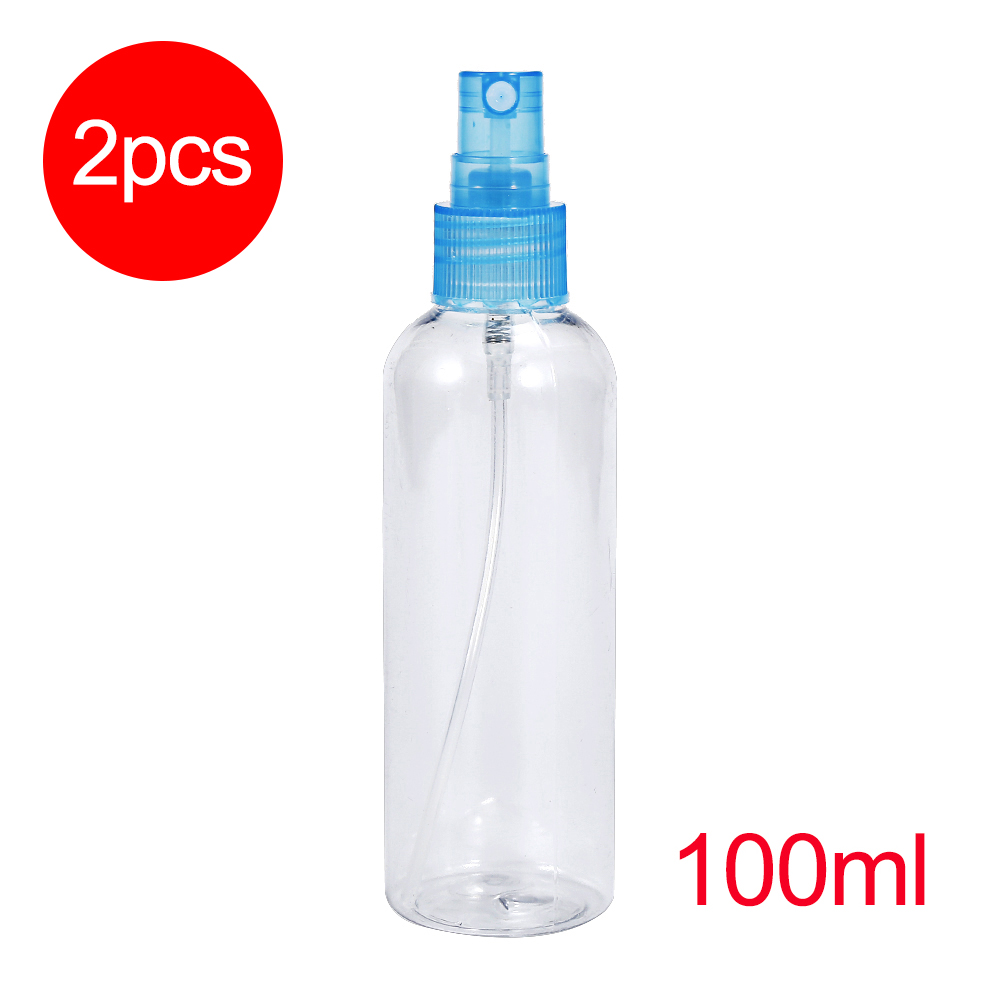 2pc 100ml Spray Bottle Empty Cosmetic Pot Makeup Face Lotion Atomizer Sample Bottle Clear Essential Oil Perfume Cosmetic Sprayer