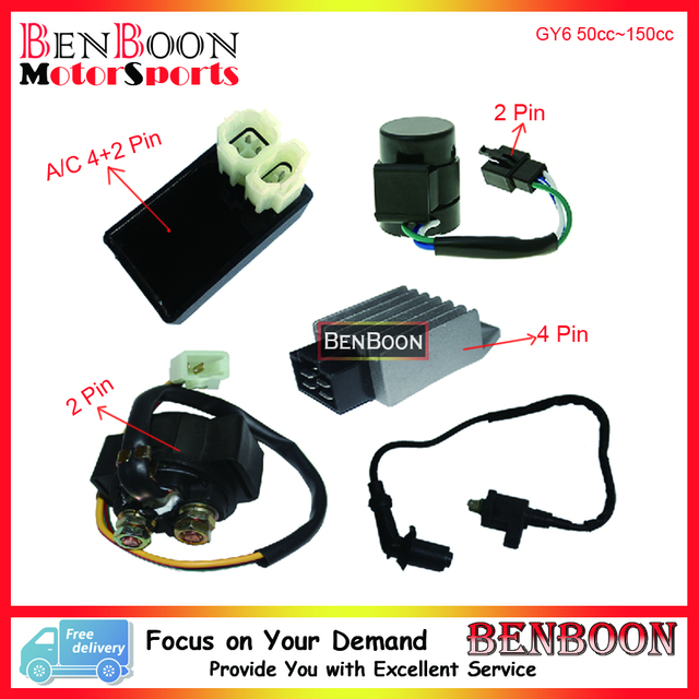 Gy6 50cc 150cc Electric Parts Cdi Ignition Coil Relay