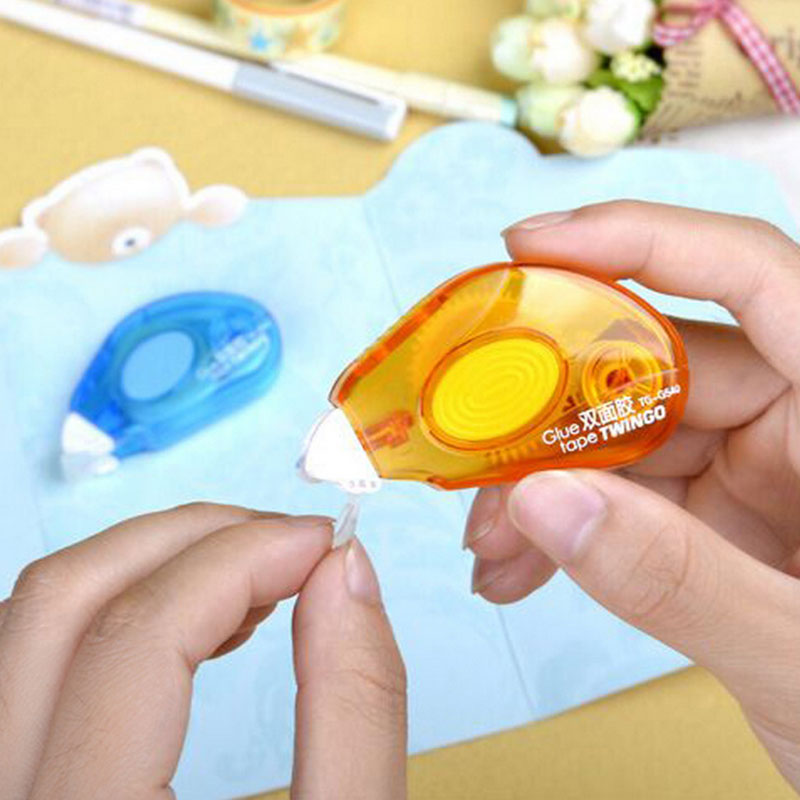 1 pcs 5M correction tape shape Double-sided adhesive tapes/glue sealing letter DIY work scrapbooking stationery office supplies 1 pcs deli 2 4cm 10y super slim strong adhesion white double sided tape doubles faced adhesive for office supplies