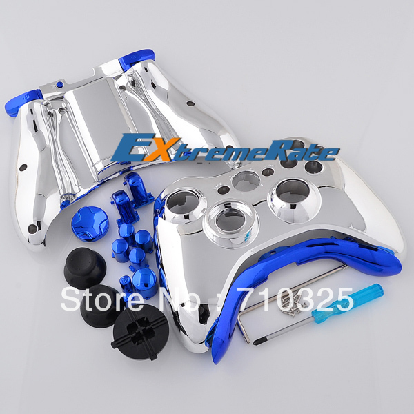 Chrome silver controller case for xbox 360 housing game mod kit chrome silver controller case for xbox 360 housing game mod kit repair controller parts in gamepads from consumer electronics on aliexpress alibaba ccuart Gallery