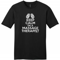 OKOUFEN Create T Shirt Online Men S Short Keep Calm I M Massage Therapist Crew Neck