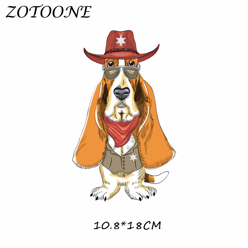 ZOTOONE Iron on Patches Hat Dog Patch Heat Transfer Patch for Clothing T Shirt Beaded Applique Clothes DIY Accessory Decoration